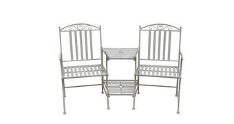 VRTNI SET kovano železo  - bela, Trendi, kovina (160/99/67cm) - Ambia Garden