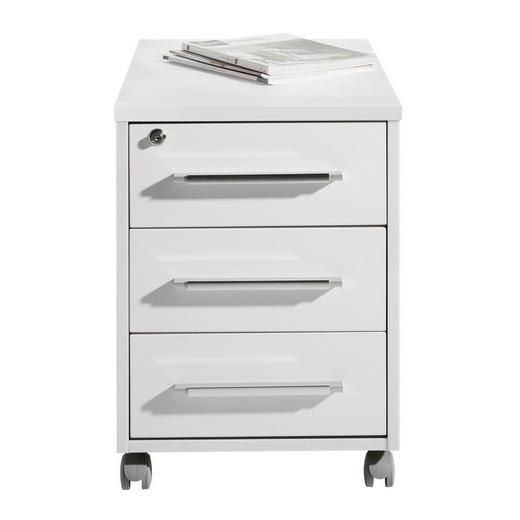 ROLLCONTAINER Weiß - Silberfarben/Weiß, Design, Kunststoff (43/59/65cm)