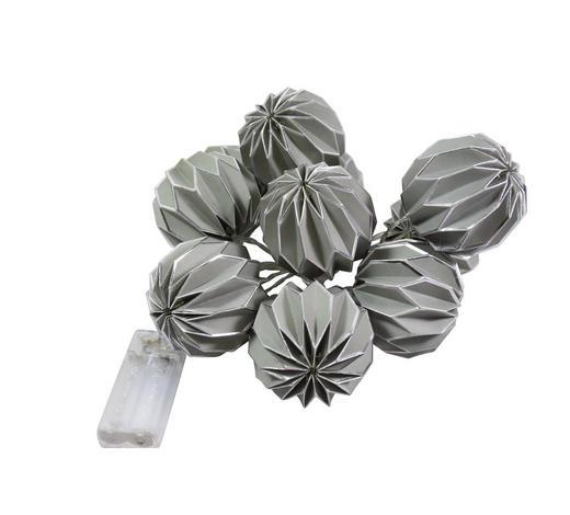 LICHTERKETTE 1,6M 10FLG   - Silberfarben/Grau, Papier/Kunststoff (160cm)