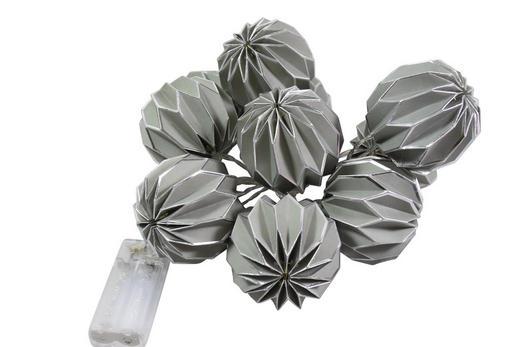 LICHTERKETTE - Silberfarben/Grau, Papier/Kunststoff (160cm)