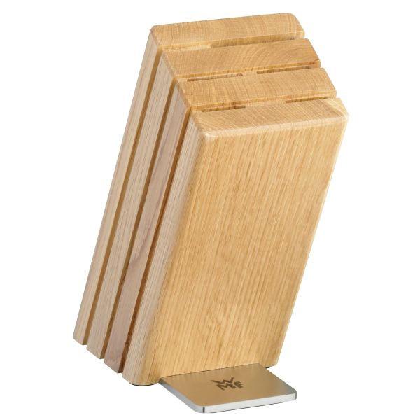 MESSERBLOCK 6-teilig Spitzenklasse Plus - Edelstahlfarben/Eichefarben, Basics, Holz/Metall - WMF