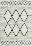 FLACHWEBETEPPICH  080/150 cm  Blau, Weiß - Blau/Weiß, MODERN, Kunststoff/Textil (080/150cm) - Boxxx