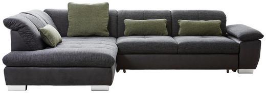 WOHNLANDSCHAFT in Textil Dunkelgrau - Chromfarben/Dunkelgrau, Design, Textil (242/313cm) - Xora
