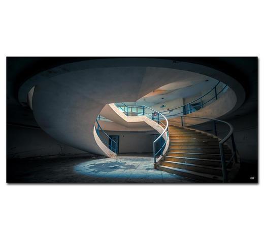 """Architektur BILD """"YOU SPIN ME AROUND""""  - Multicolor, Basics, Holzwerkstoff/Kunststoff (150/75cm) - Wiedemann"""