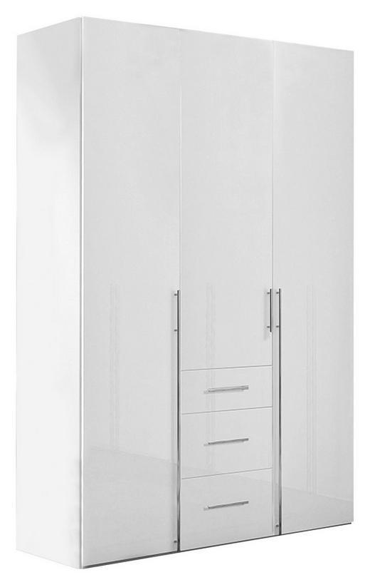 KLEIDERSCHRANK 3-türig Weiß - Chromfarben/Weiß, Design, Holzwerkstoff/Metall (150/236/58cm) - Hom`in