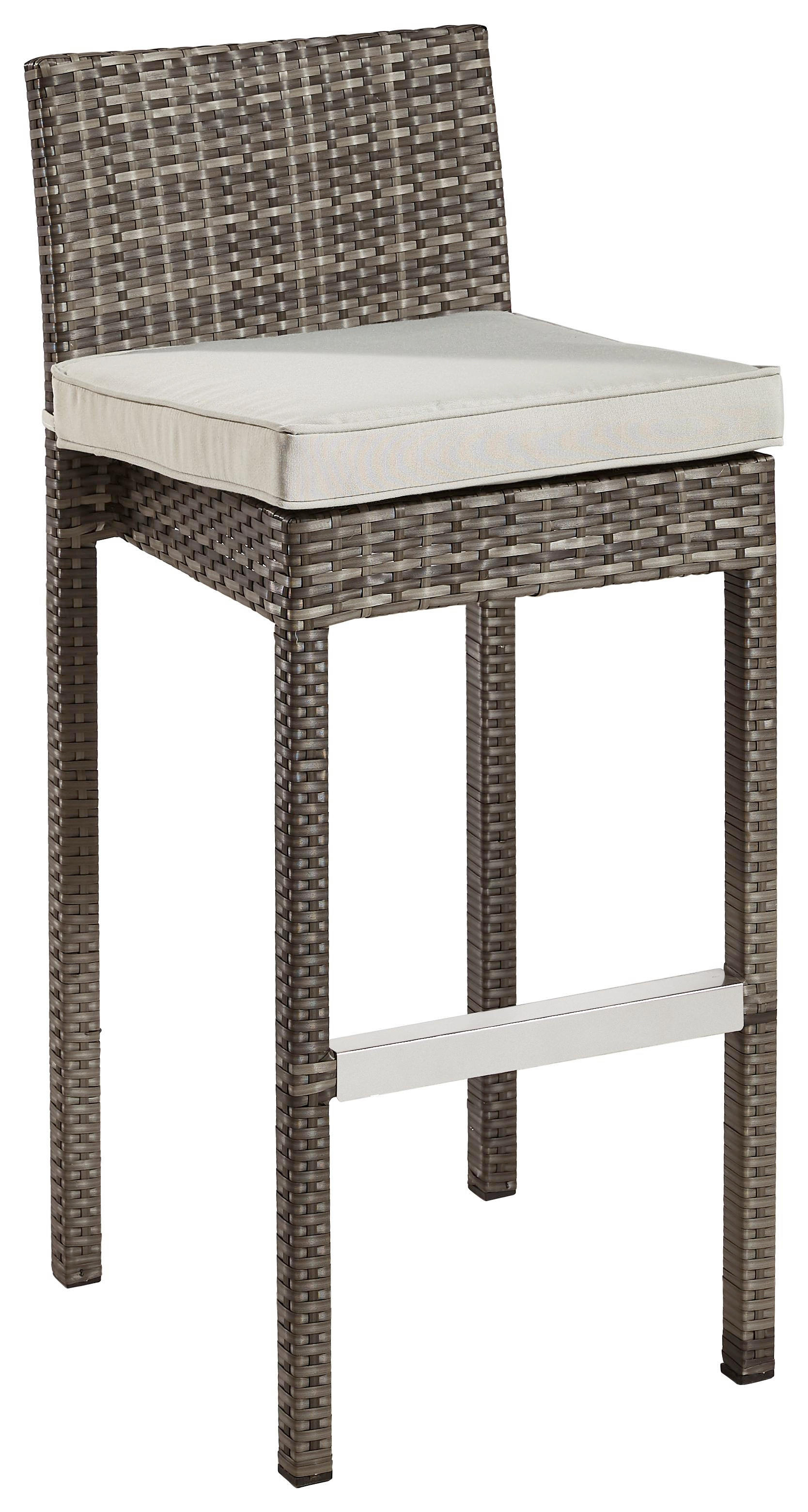 BARHOCKER Grau, Hellgrau - Hellgrau/Grau, Design, Kunststoff/Textil (43/100/51cm) - AMBIA GARDEN