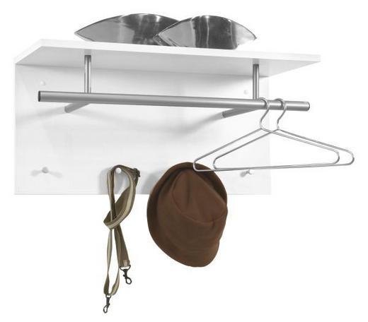 WANDGARDEROBE Weiß - Weiß, Design, Holz (72/35/29,5cm) - CARRYHOME