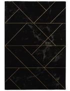 WEBTEPPICH  80/150 cm  Grau, Schwarz, Goldfarben   - Goldfarben/Schwarz, Design, Textil (80/150cm) - Novel