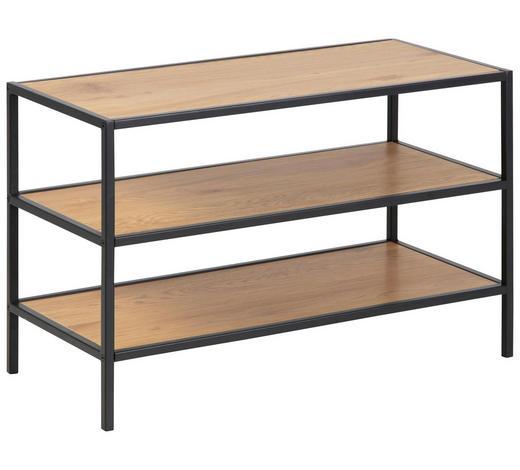 SCHUHREGAL 77,0/50,0/35,0 cm - Eichefarben/Schwarz, Trend, Holzwerkstoff/Metall (77,0/50,0/35,0cm) - Carryhome