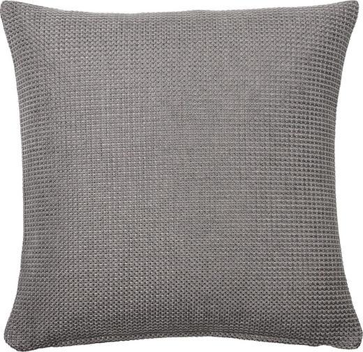 KISSENHÜLLE Silberfarben 50/50 cm - Silberfarben, Basics, Textil (50/50cm)