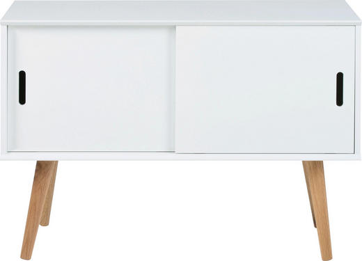 KOMMODE lackiert Naturfarben, Weiß - Naturfarben/Weiß, LIFESTYLE, Holz (100/68,2/38cm) - Carryhome