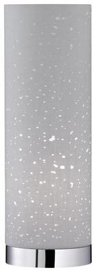TISCHLEUCHTE - Chromfarben/Grau, Design, Textil/Metall (12/35cm)