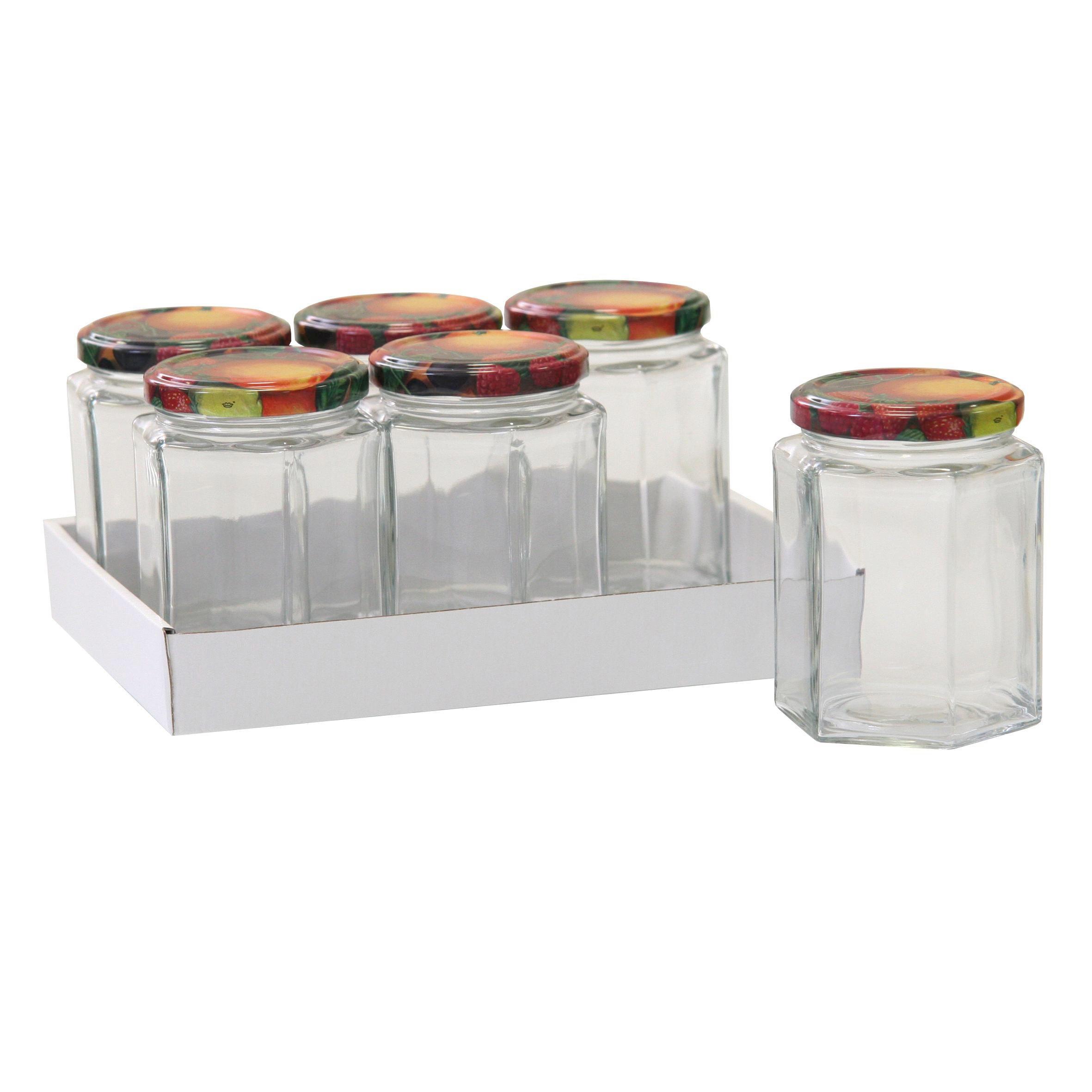 MARMELADENGLAS-SET - Transparent, Glas/Metall