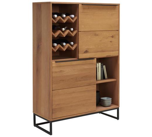 HIGHBOARD 99/148/40 cm - Eichefarben/Schwarz, Design, Holz/Holzwerkstoff (99/148/40cm) - Lomoco