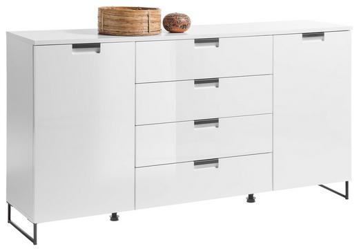SIDEBOARD 160/84/38 cm - Weiß/Grau, Design, Holzwerkstoff/Metall (160/84/38cm) - Xora