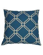 OKRASNA BLAZINA KLARA modra, rumena 48/48 cm  - modra/rumena, Design, tekstil (48/48cm)