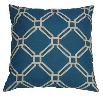 OKRASNA BLAZINA KLARA - modra/rumena, Design, tekstil (48/48cm)
