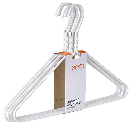 KLEIDERBÜGELSET Metall Weiß - Weiß, Design, Metall (40,5/27cm) - Xora