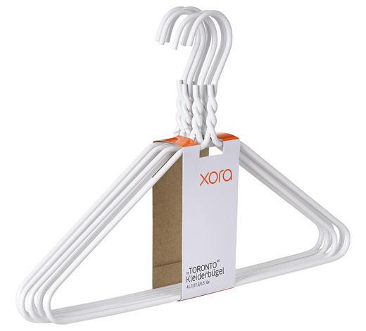 KLEIDERBÜGELSET - Weiß, Design, Metall (40,5/27cm) - Xora