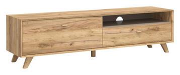 LOWBOARD melaminharzbeschichtet Eichefarben - Eichefarben, Design, Holz (187/50/45cm) - Linea Natura
