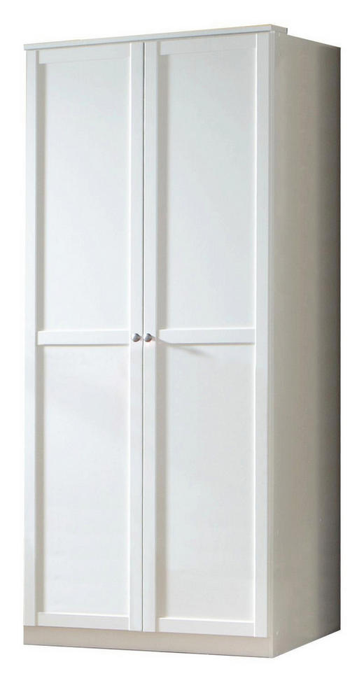 DREHTÜRENSCHRANK Weiß - Zinkfarben/Weiß, LIFESTYLE, Holzwerkstoff/Metall (90/197/58cm) - Carryhome