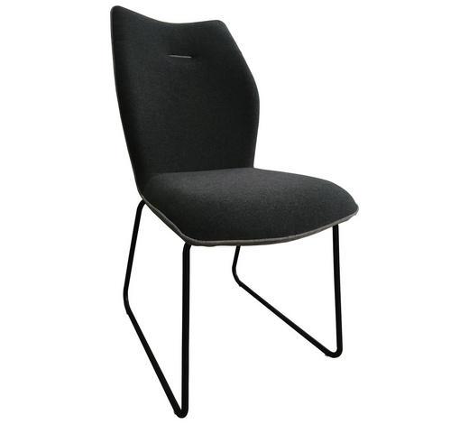 ŽIDLE, šedá, tmavě šedá - šedá/černá, Design, kov/textil (47,5/91/63,5cm) - Novel
