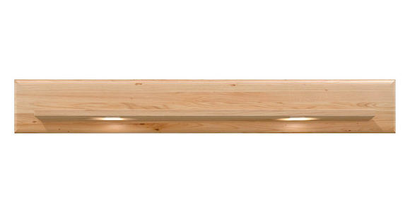 WANDBOARD Holz Eiche furniert Eichefarben - Eichefarben, KONVENTIONELL, Holz (160/24,5/21,6cm) - Voleo