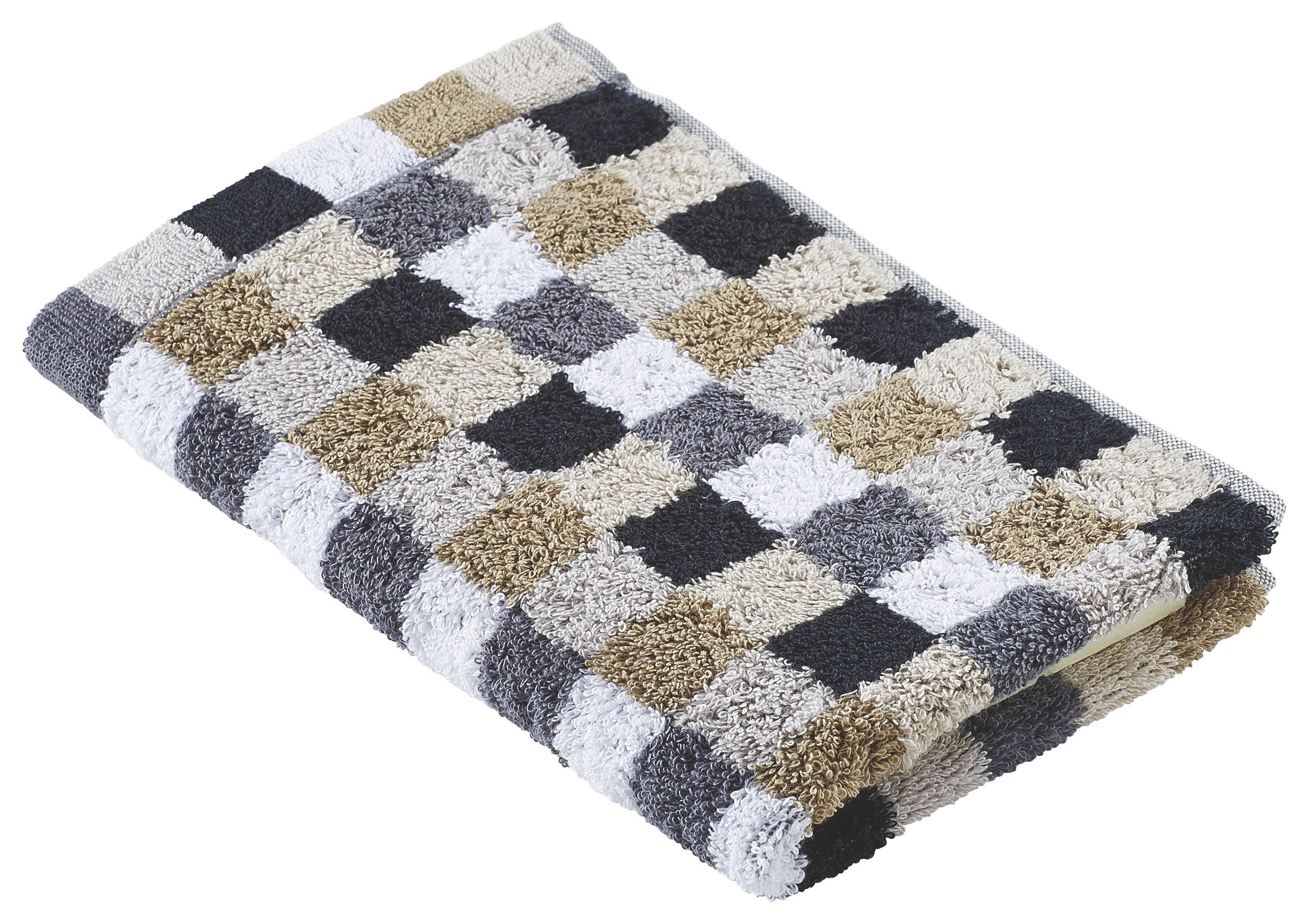 GÄSTETUCH 30/50 cm - Beige/Schwarz, Textil (30/50cm) - CAWOE