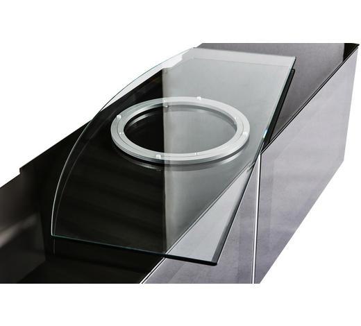 TV-DREHPLATTE in Klar, Alufarben  - Klar/Alufarben, Design, Glas/Metall (90/2,5/38cm)