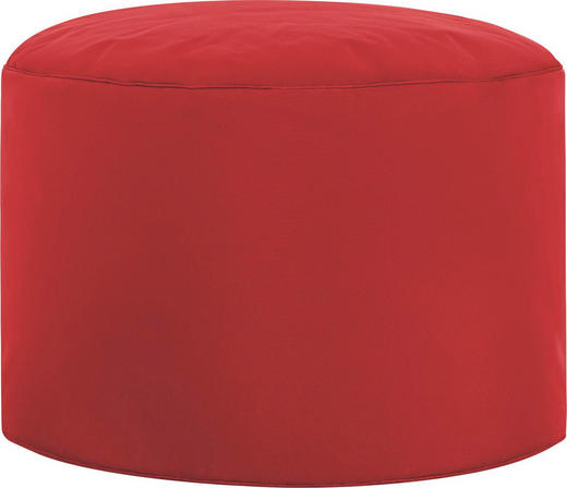 POUF Rot - Rot, Design, Textil (50/30cm) - CARRYHOME