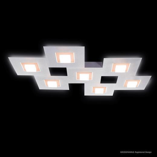 LED-DECKENLEUCHTE - Alufarben/Kupferfarben, MODERN, Metall (80/60/5,3cm)