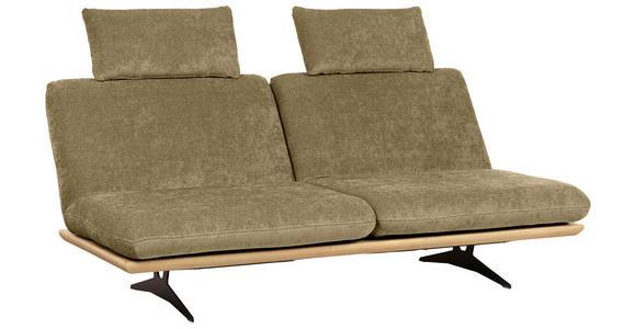 SCHLAFSOFA in Holz, Textil Hellgrün - Beige/Schwarz, Design, Holz/Textil (204/92/90cm) - Dieter Knoll