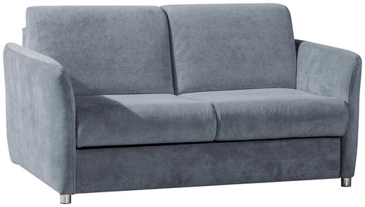 SCHLAFSOFA Blau, Grau - Blau/Chromfarben, KONVENTIONELL, Textil/Metall (142/88/99cm) - Carryhome
