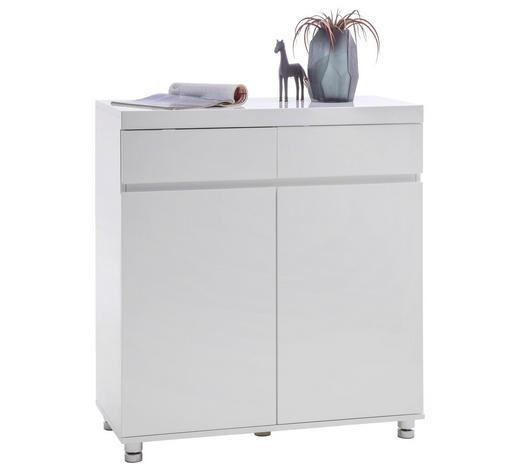BOTNÍK, bílá, barvy chromu,  - bílá/barvy chromu, Design, kov/kompozitní dřevo (90/98/40cm) - Xora