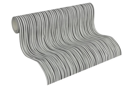 VLIESTAPETE 10,05 m - Dunkelgrau/Weiß, Basics, Textil (53/1005cm)