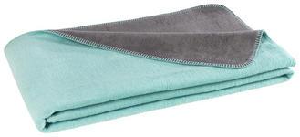 WOHNDECKE 150/200 cm - Anthrazit/Mintgrün, Basics, Textil (150/200cm) - Novel