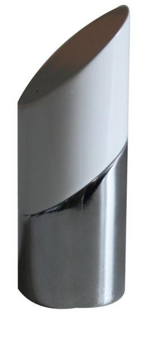 ENDSTÜCK - Chromfarben/Weiß, Basics, Metall (6.6/2.5cm) - Homeware