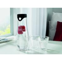 WASSERKARAFFE 1 L - Klar/Schwarz, Design, Glas (10/28cm) - Leonardo
