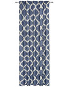 KONČANA ZAVESA LUNICA  neprosojno  140/245 cm   - modra, Design, tekstil (140/245cm) - Esposa