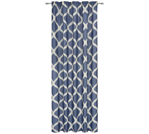 KONČANA ZAVESA LUNICA - modra, Design, tekstil (140/245cm) - Esposa
