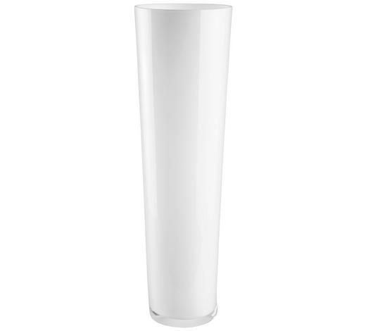 VÁZA, 60 cm - bílá, Basics, sklo (60cm) - Leonardo