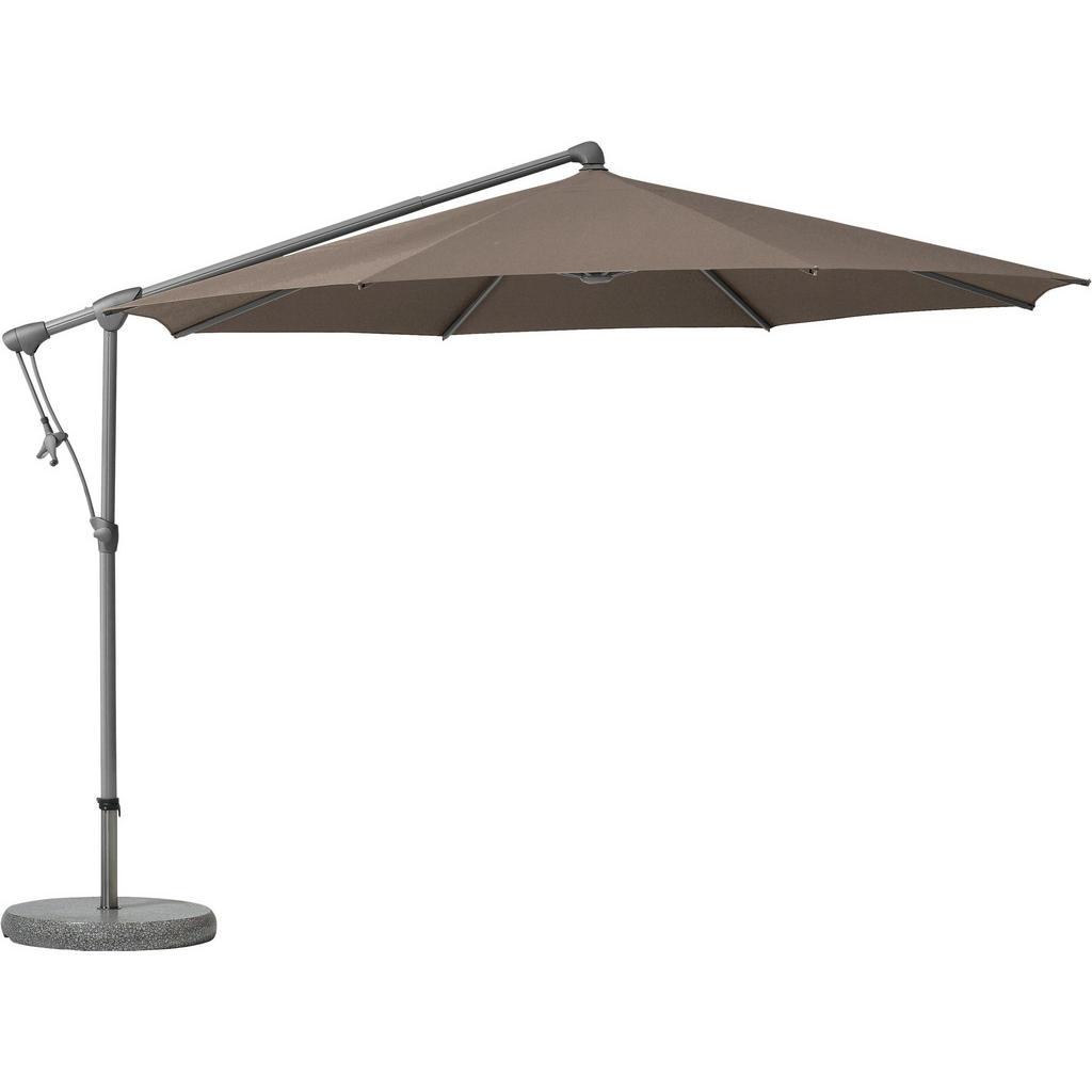 Glatz AMPELSCHIRM 330 cm Braun, Grau, Braun | Garten > Sonnenschirme und Markisen > Sonnenschirme | Textil | Glatz