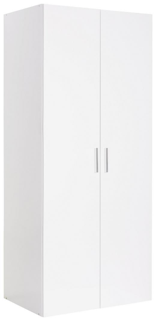GARDEROBENSCHRANK 80/185/40 cm - Chromfarben/Weiß, Design, Holzwerkstoff/Kunststoff (80/185/40cm) - Xora