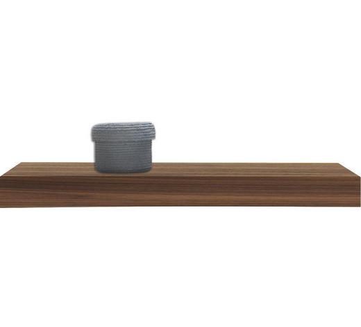 POLICE NÁSTĚNNÁ, ořech, barvy ořechu - barvy ořechu, Basics, dřevo (60/25cm)