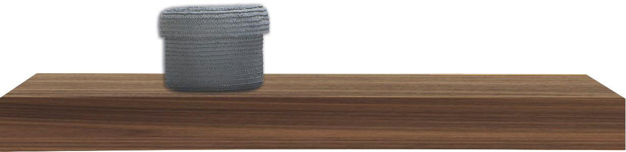 WANDBOARD Nussbaum furniert Nussbaumfarben - Nussbaumfarben, Basics, Holz (60/25cm)