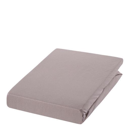 SPANNBETTTUCH Zwirn-Jersey Braun, Hellbraun bügelfrei, für Wasserbetten geeignet - Hellbraun/Braun, Basics, Textil (150/200cm) - ESTELLA
