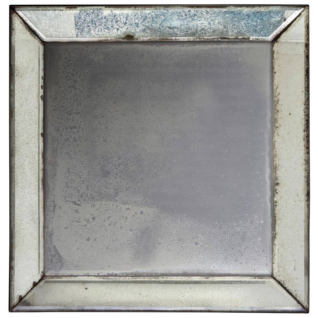 Xora Spiegel silberfarben , Asmo , Glas , 40x40x5 cm , verspiegelt,verspiegelt , 002687022402