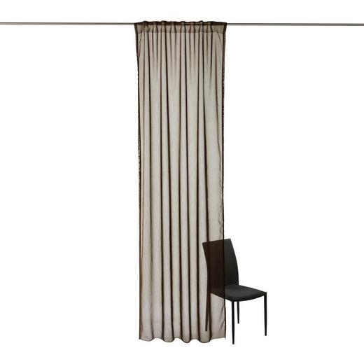FERTIGVORHANG  transparent  135/300 cm - Braun, KONVENTIONELL, Textil (135/300cm) - Boxxx