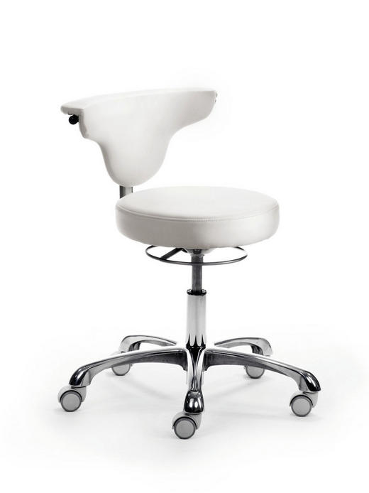 DREHSTUHL - Chromfarben/Weiß, Design, Kunststoff/Textil (59/68-78/39cm)