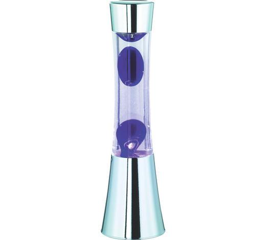 LAMPA LÁVOVÁ - fialová, Lifestyle, kov/sklo (11/39,5cm)